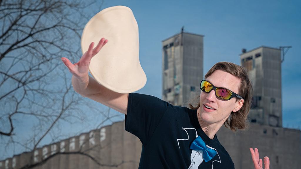 Nick Diesslin's 15 minutes of fame is hand-tossed
