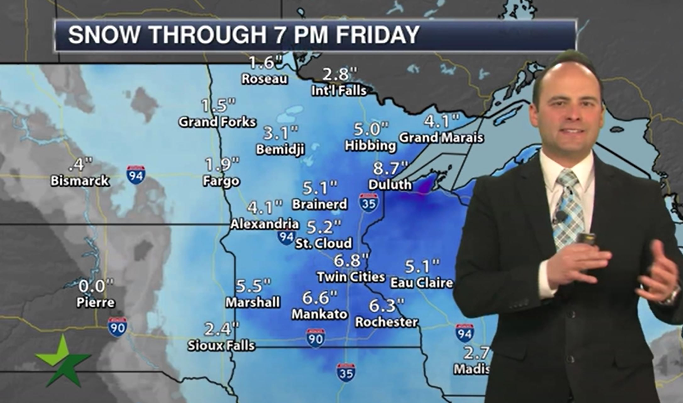 Evening forecast: Low of 29; freezing rain possible late ahead of winter storm