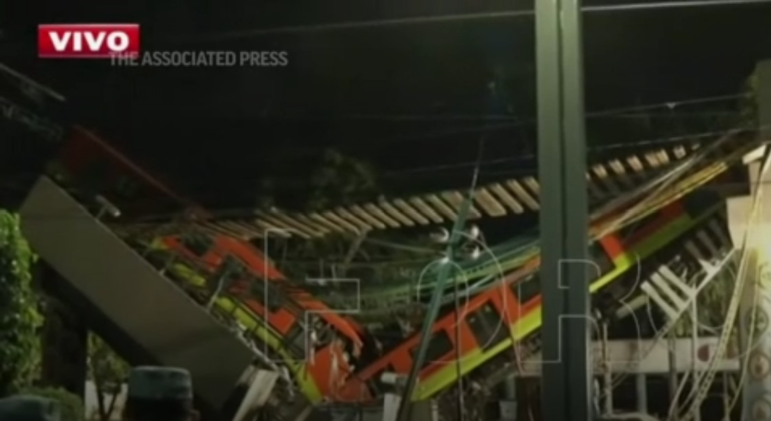 Mexico City overpass collapse kills at least 23
